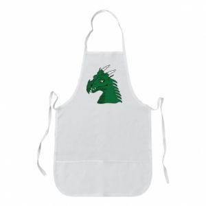 Fartuch Zielony smok z rogami - PrintSalon