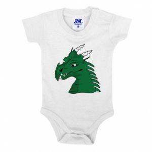 Baby bodysuit Green Dragon with horns