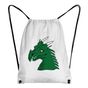 Backpack-bag Green Dragon with horns