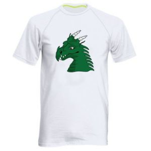 Men's sports t-shirt Green Dragon with horns
