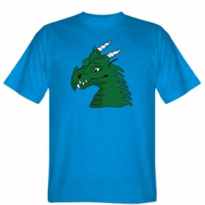T-shirt Green Dragon with horns