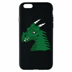 Etui na iPhone 6/6S Zielony smok z rogami - PrintSalon