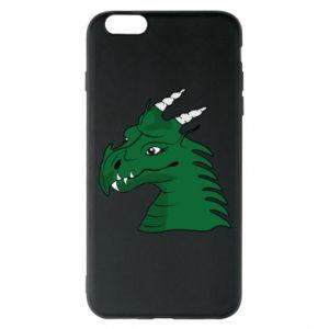 Etui na iPhone 6 Plus/6S Plus Zielony smok z rogami - PrintSalon