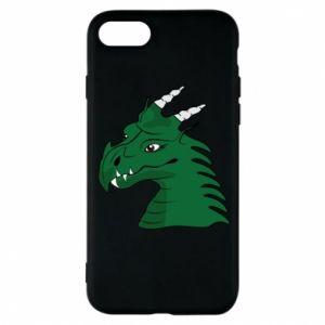 Etui na iPhone 8 Zielony smok z rogami - PrintSalon