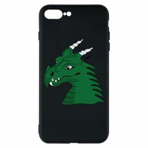 Etui na iPhone 8 Plus Zielony smok z rogami - PrintSalon