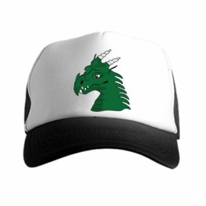 Trucker hat Green Dragon with horns