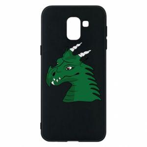 Etui na Samsung J6 Zielony smok z rogami