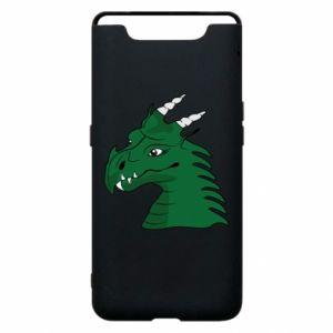 Etui na Samsung A80 Zielony smok z rogami