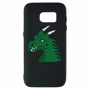 Etui na Samsung S7 Zielony smok z rogami