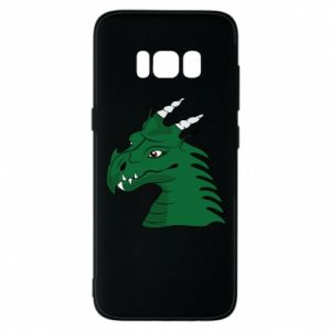Etui na Samsung S8 Zielony smok z rogami