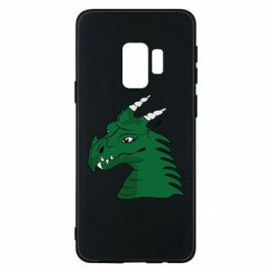 Etui na Samsung S9 Zielony smok z rogami