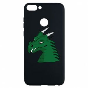 Phone case for Huawei P Smart Green Dragon with horns
