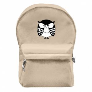 Backpack with front pocket Evil owl