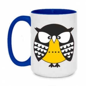 Two-toned mug 450ml Evil owl