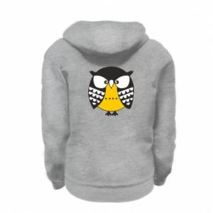 Kid's zipped hoodie % print% Evil owl