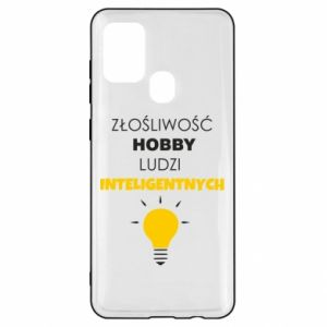Etui na Samsung A21s Złośliwość - hobby