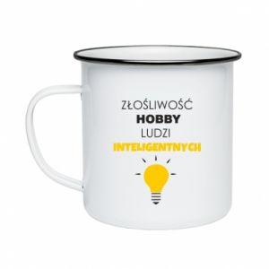 Enameled mug Slander - a hobby - PrintSalon