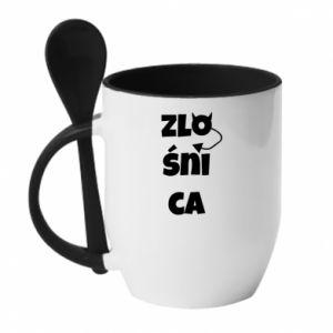 Mug with ceramic spoon Shrew - PrintSalon