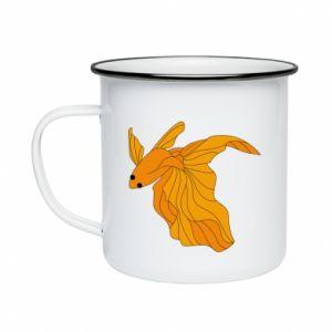 Enameled mug Goldfish