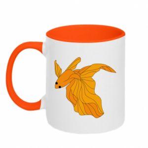 Two-toned mug Goldfish