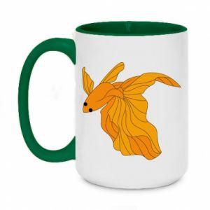 Two-toned mug 450ml Goldfish