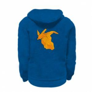 Kid's zipped hoodie % print% Goldfish