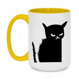 Two-toned mug 450ml Angry cat