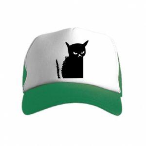 Kid's Trucker Hat Angry cat