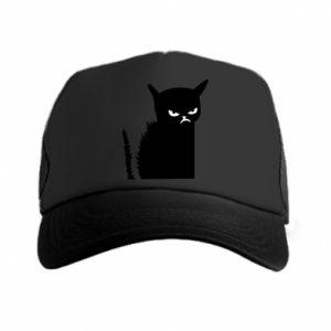 Czapka trucker Zły kot
