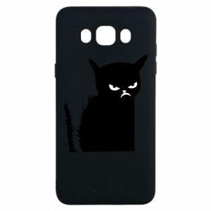 Etui na Samsung J7 2016 Zły kot