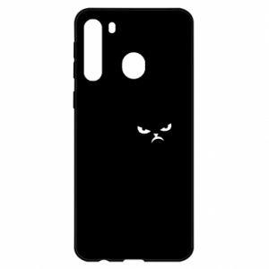Etui na Samsung A21 Zły kot