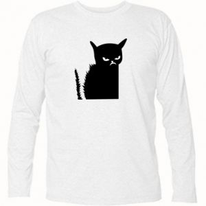 Long Sleeve T-shirt Angry cat