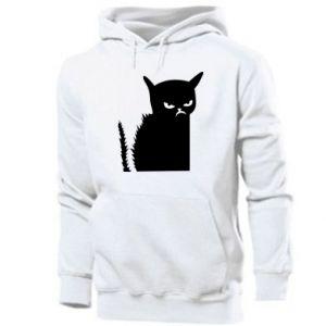 Men's hoodie Angry cat