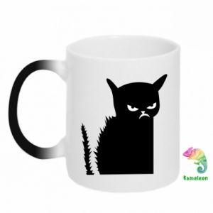 Chameleon mugs Angry cat