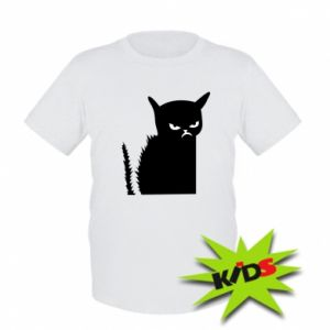 Kids T-shirt Angry cat