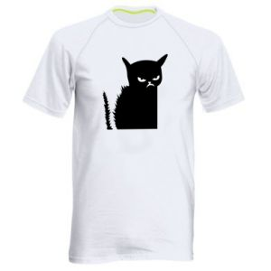 Men's sports t-shirt Angry cat