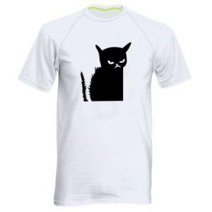 Koszulka sportowa męska Zły kot