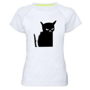 Koszulka sportowa damska Zły kot