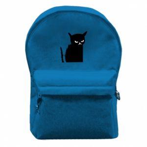Plecak z przednią kieszenią Zły kot