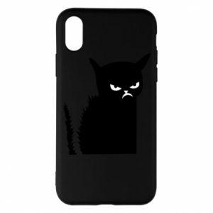 Etui na iPhone X/Xs Zły kot