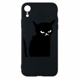 Etui na iPhone XR Zły kot