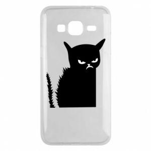 Etui na Samsung J3 2016 Zły kot