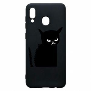 Etui na Samsung A20 Zły kot