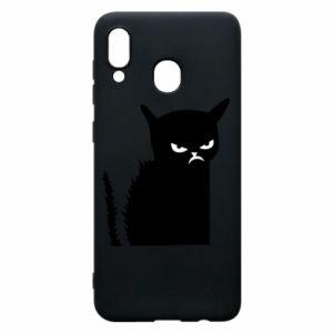 Etui na Samsung A30 Zły kot