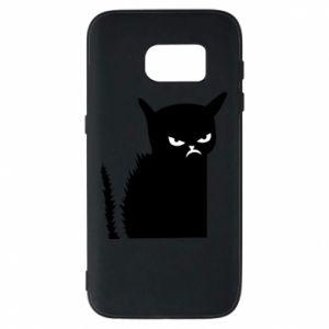 Etui na Samsung S7 Zły kot
