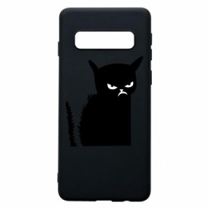 Phone case for Samsung S10 Angry cat