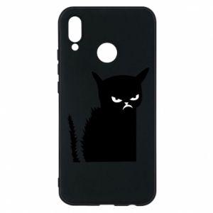 Etui na Huawei P20 Lite Zły kot