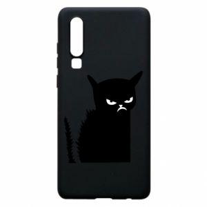 Etui na Huawei P30 Zły kot