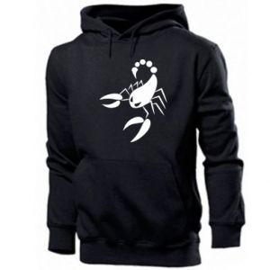 Męska bluza z kapturem Zły skorpion - PrintSalon