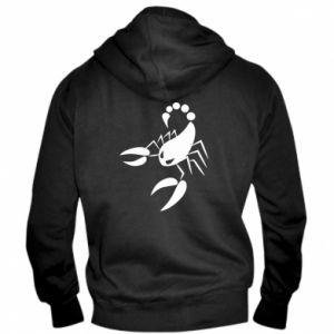 Bluza z kapturem na zamek męska Zły skorpion